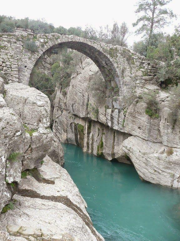 Koprulu Kanyon Antalya /turkey (De canyon with a Roman bridge) some 30 kms inside Manavgat, near Antalya, a place where rafting has become extremely popular, Mediterranean.