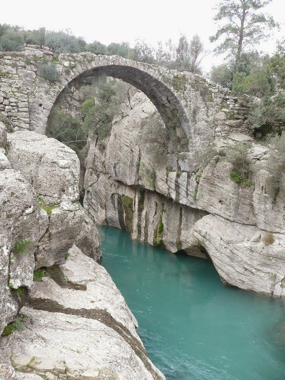 Koprulu Kanyon Antalya /turkey (De canyon with a Roman bridge) some 30 kms inside Manavgat, near Antalya, a place where rafting has become extremely popular, Mediterranean.