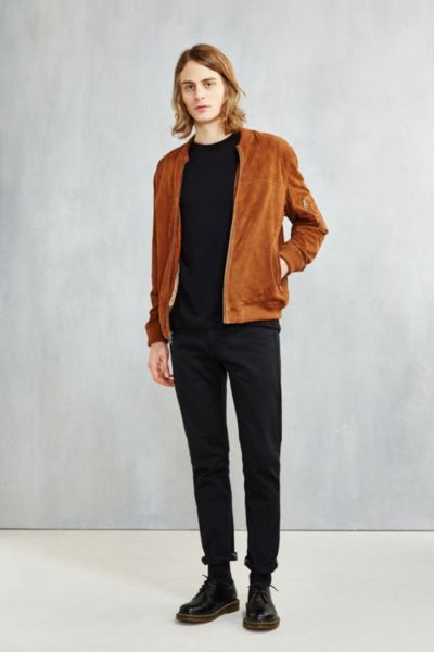 CPO Suede Bomber Jacket - Urban Outfitters