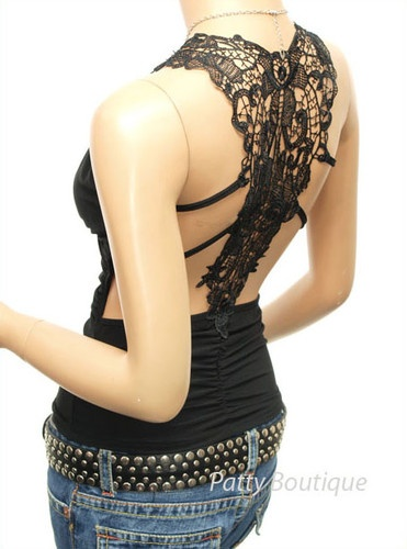 Sexy Lace Back Ruched Halter Clubwear Tops   eBay $23.99