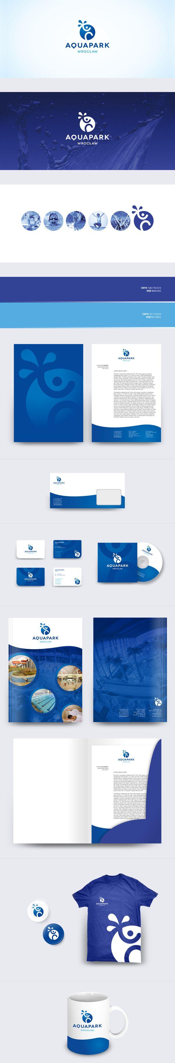 Aquapark Wrocław branding | #stationary #corporate #design #corporatedesign #identity #branding #marketing < repinned by www.BlickeDeeler.de | Take a look at www.LogoGestaltung-Hamburg.de