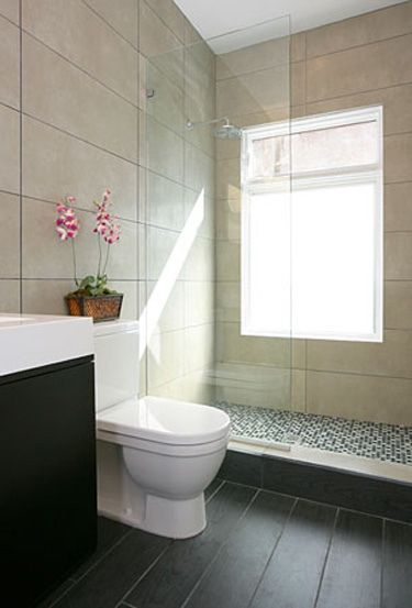 ensuite clean line of shower screen