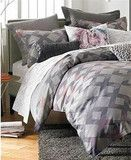 bar iii seneca diamonds twin sateen duvet cover gray