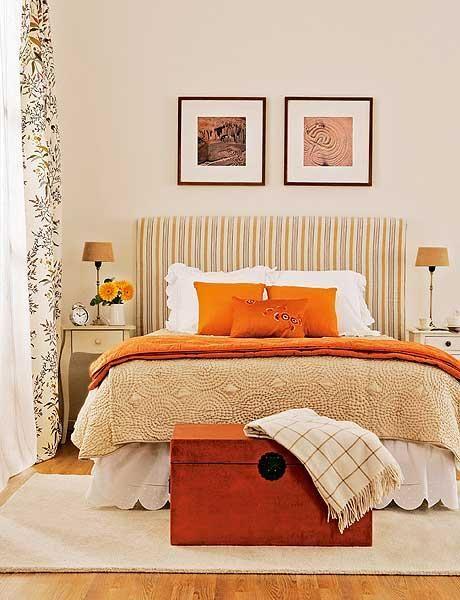 Las 25 mejores ideas sobre dormitorios naranja en - Combinar color naranja decoracion ...