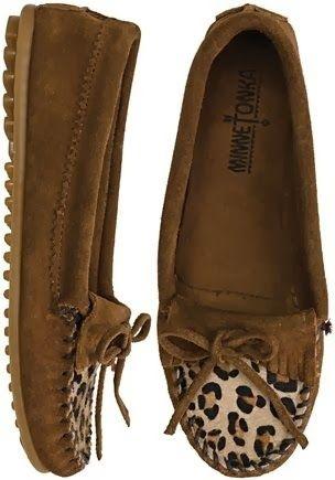 Minnetonka Leopard Kilty Moccasin
