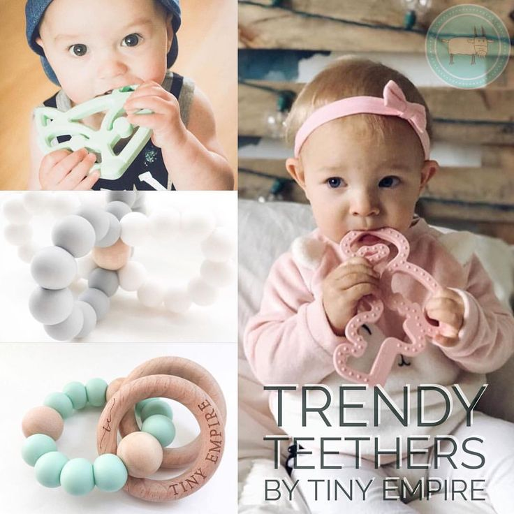"""""""Check out our awesome selection of fashionable teethers by @tinyempireca . . Well made, BPA free…"""""""