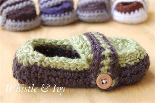 Monk Strap Baby Booties - Media - Crochet Me free pattern