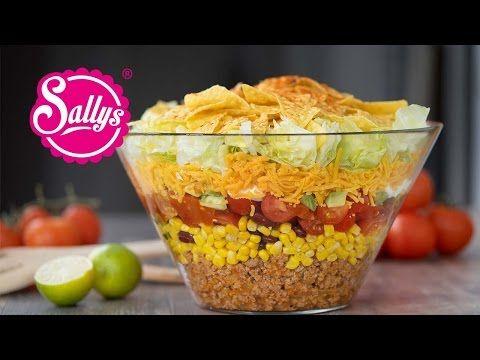 Mexikanischer Partysalat - Taccosalat - Nachosalat - Partyrezept - YouTube