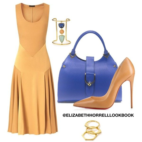 LIZ by elizabethhorrell on Polyvore featuring polyvore fashion style Burberry Christian Louboutin Lizzie Fortunato Gorjana
