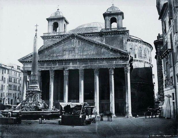 Pantheon (Gioacchino Altobelli, 1870 ca) ancora con le torrette.