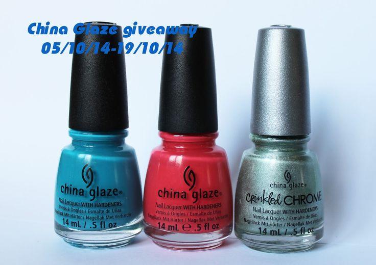 Дневники лакоманьяка: China Glaze giveaway 05/10/14-19/10/14