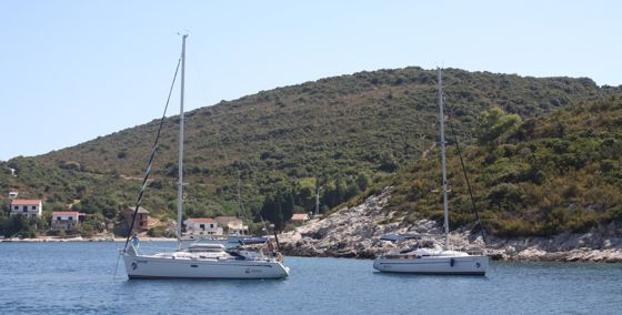 The home of Sailing in Croatia: Vis, Luka Rogacic, to the NW of the entrance of Viska Luka and a viable alternative to Vis Town and Kut harbours