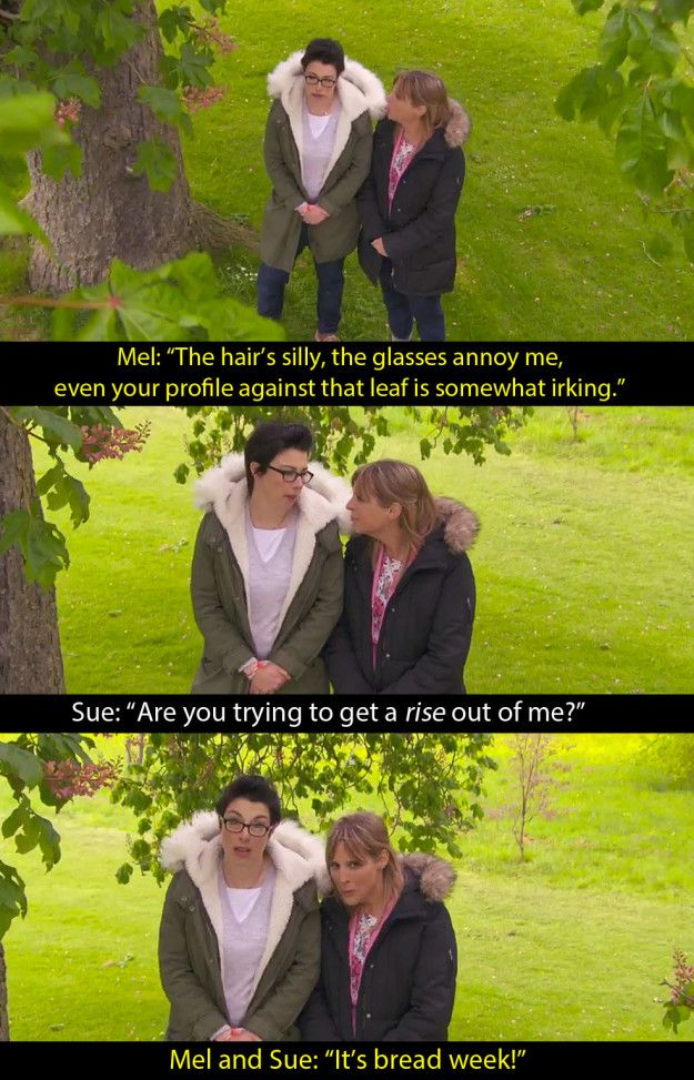 "At the very start of the bread week episode. | 17 Mel And Sue ""Bake Off"" Baking…"