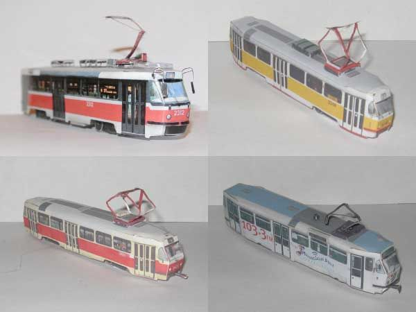 Tatra T3SU Tramcar Free Vehicle Paper Model Download