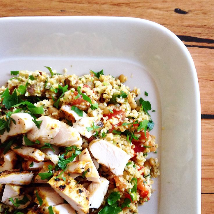 Moroccan Chicken & tabouli salad!  My recipe! thekjcollective.wordpress.com