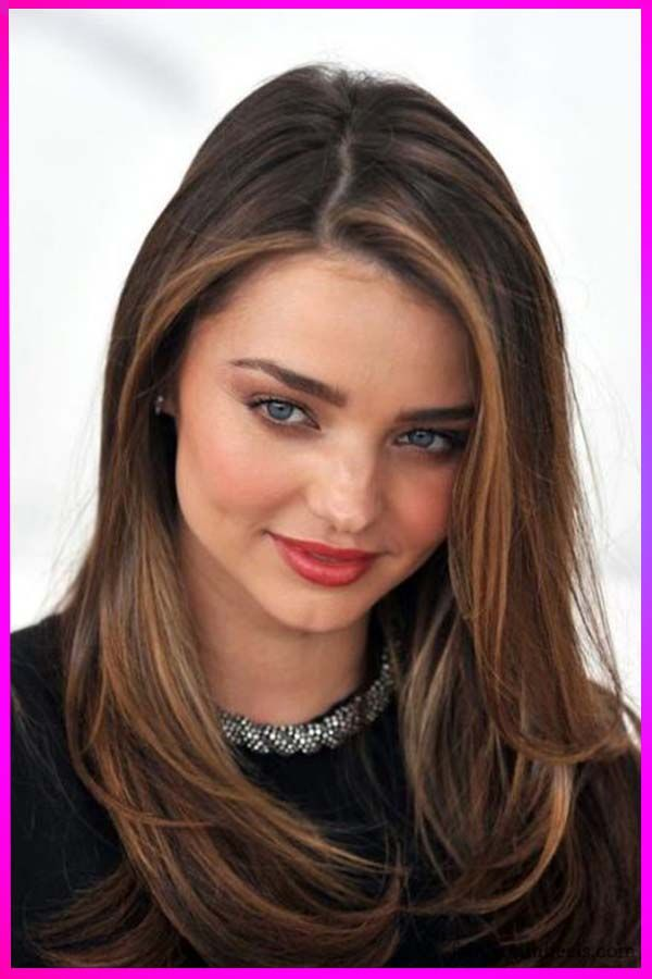 Cute Long Haircuts For Black To Brown Hair In 2020 Miranda Kerr Hair Miranda Kerr Hair Color Hair Highlights