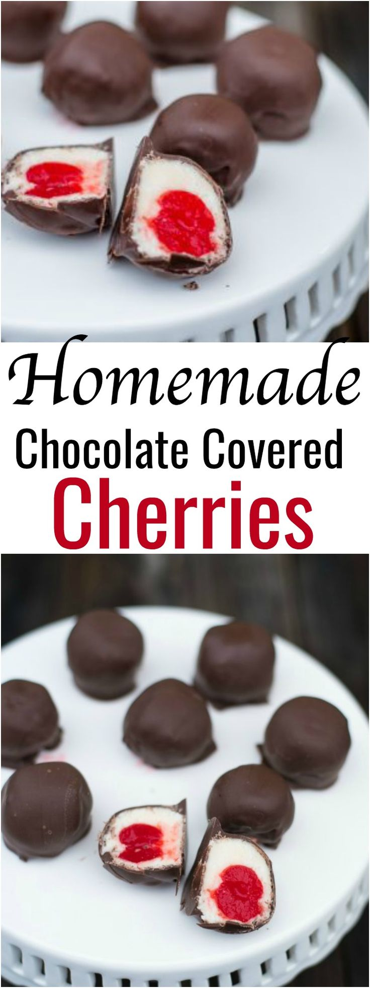 These Homemade Chocolate Covered Cherries are delicious and so easy to make. These are my dad's favorite!