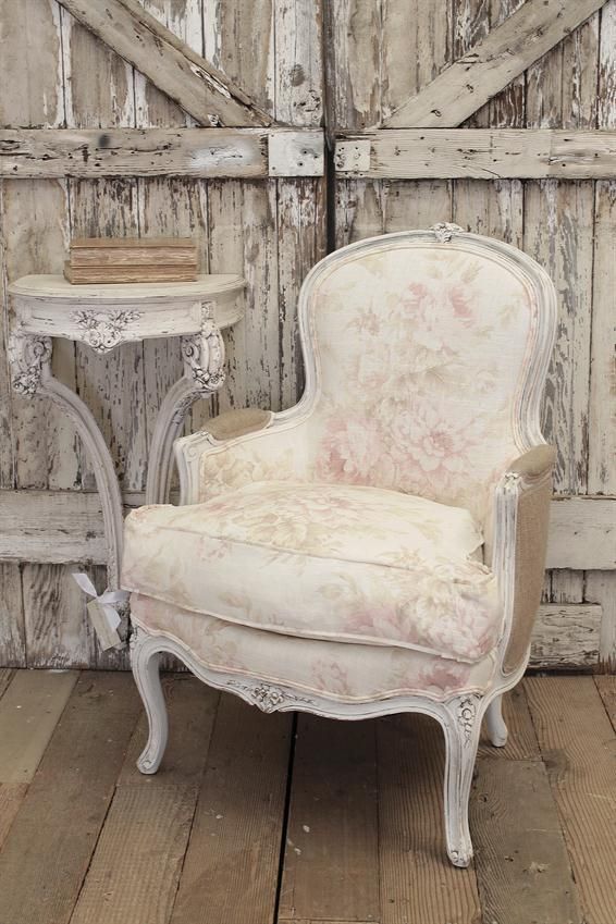 FULL BLOOM COTTAGE:  Vintage French Bergere Chair from Full Bloom Cottage
