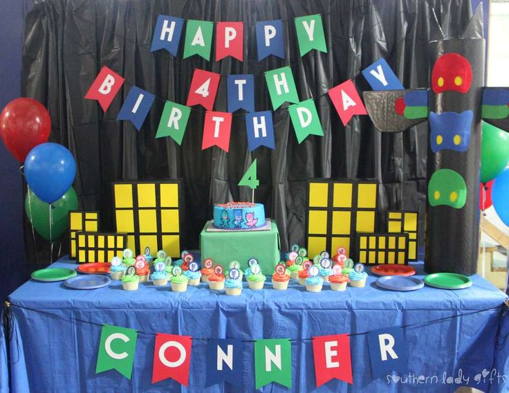 Conner's PJ Masks 4th Birthday
