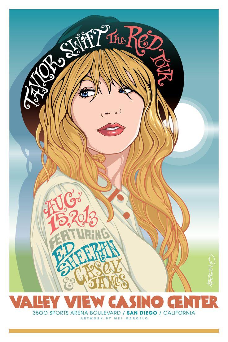 Commemorative Poster for Taylor Swift! Artwork by Mel Marcelo