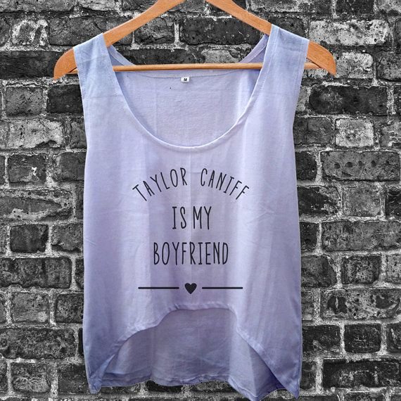 Taylor Caniff is My Boyfriend Women Crop Tank by inoeshop on Etsy