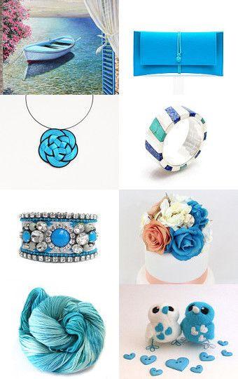 Scuba blue! by Gaia Salatino Ghirardi on Etsy--Pinned with TreasuryPin.com