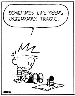 Some times life seems unbearably tragic