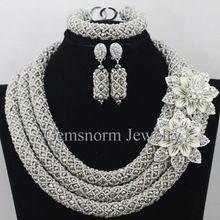 Perles africaines ensemble de bijoux 2015 perles de mariage Nigerian africain pour Brides parti de mariée ensemble de bijoux livraison gratuite WB913(China (Mainland))