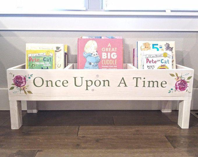Once Upon A Time Book Bin Nursery Decor Nursery Bookcase