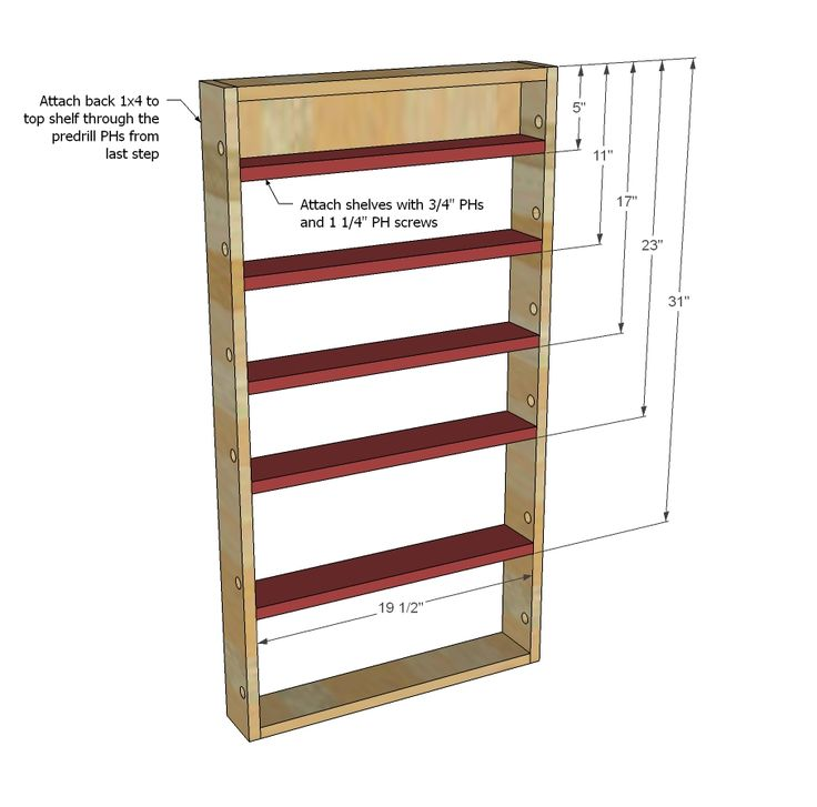 Ana White Build A Door Spice Rack Free And Easy Diy