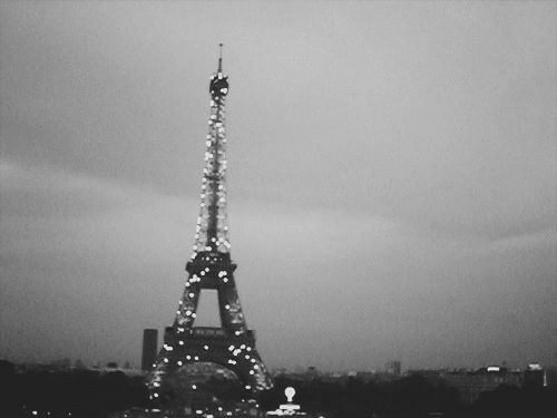"""few things are more charming than the eiffel tower twinkling."""