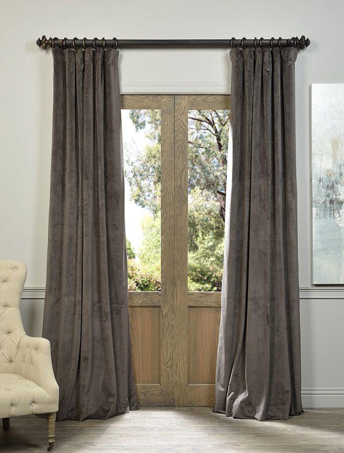 Signature Gunmetal Grey Blackout Velvet Curtain - SKU: VPCH-140802 at https://halfpricedrapes.com