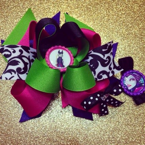 Maleficent hair bow and bracelet set!