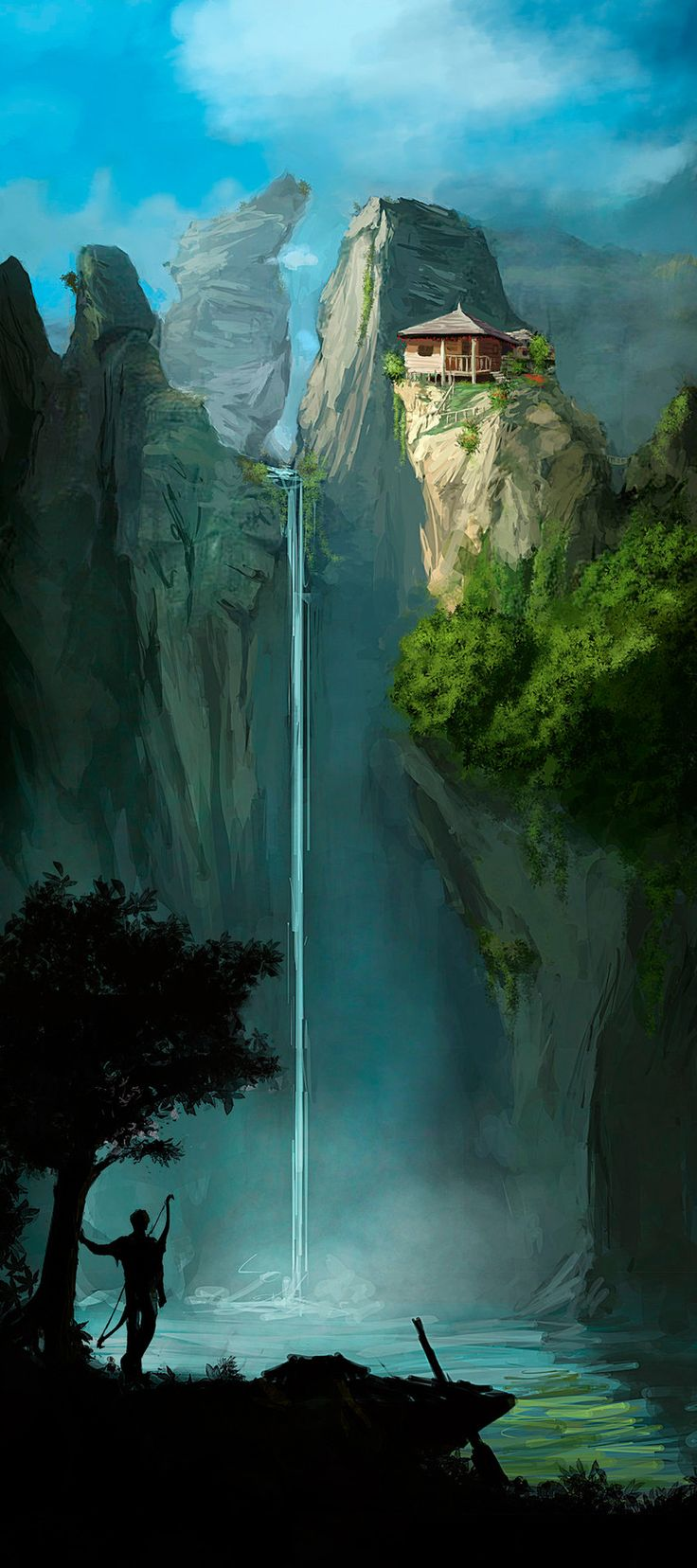Look, kids! Archery can take you to the coolest places! Art by Razvan Negrea