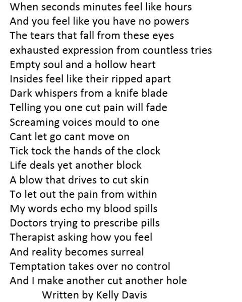 #dark #poetry #poet #poetrycommunity #depression #depressed #painful #invisibleillness #invisible #self #harm #selfharm #selfharmrecovery #selfharmawareness #selfharmpoem #knife #cuts #bleeding #bleed #bleedingpain #darktimes #darkart #darkness #poeticdarkness #f4f #followforfollow #regramifyoulikeit #deeppoem #deeppoetry #deeppoetrysociety