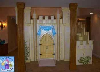 Fairy Princess Castle Themed Play Loft Bed By Custom