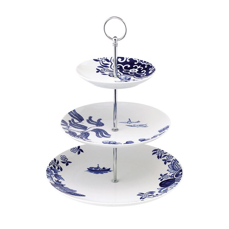 Discover the Loveramics Willow Love Story Three Tiered Cake Stand at Amara