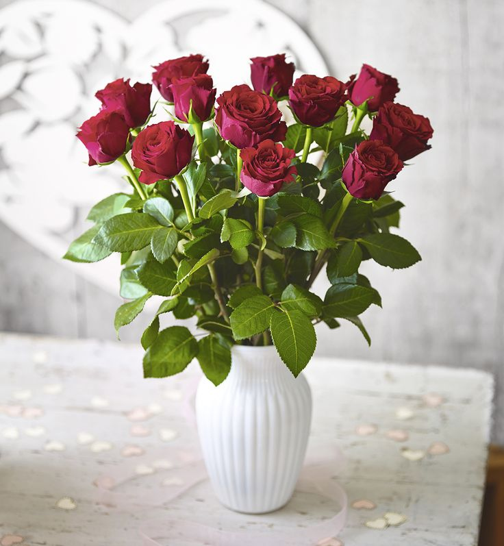 Foundation Dozen Upper Class Red Roses.  #ValentinesDay #Waitrose