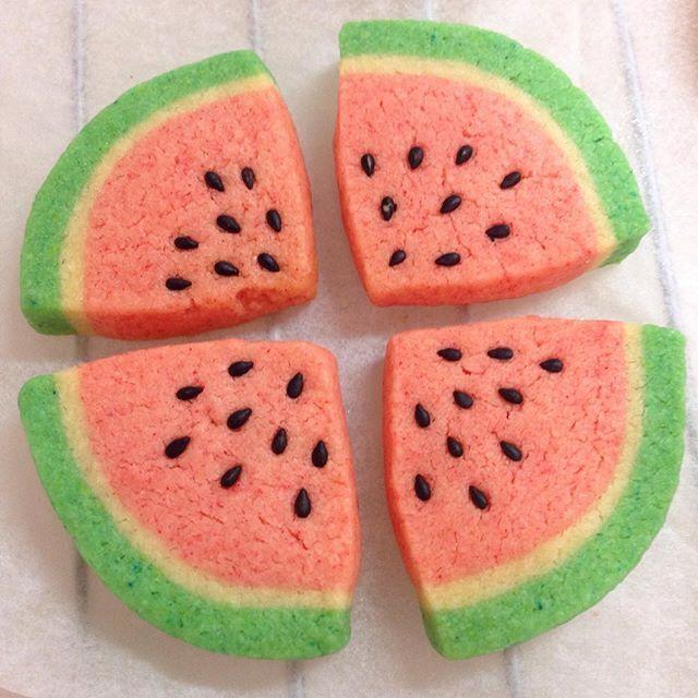 #アイスボックスクッキー #iceboxcookie #iceboxcookies #スイカ #watermelon