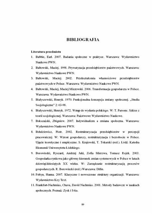 Bibliografia - przykład