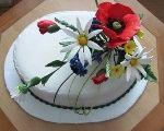 Torty s lúčnymi kvetmi