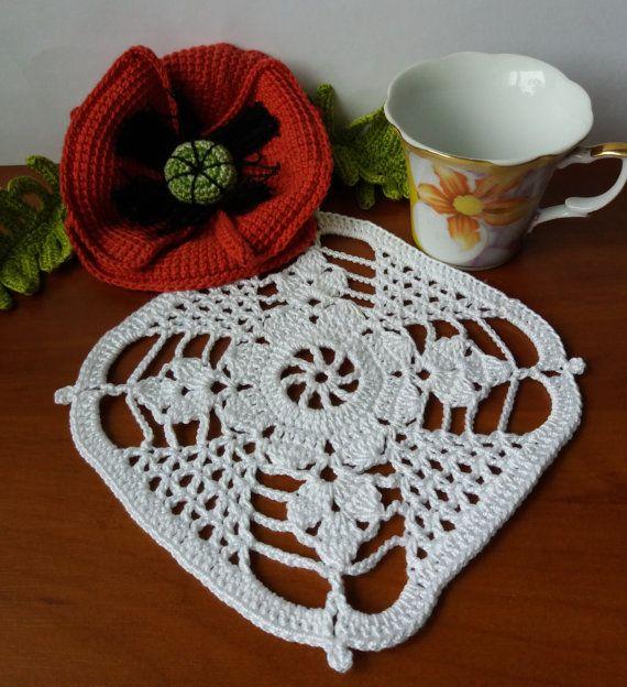 square crochet doily,hand crochet doilies, lace doilies, cotton coasters