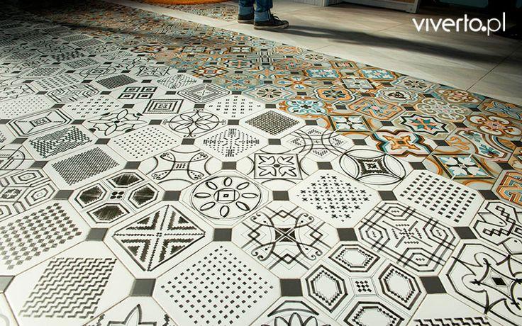 Wolicie klasyczne połączenie bieli z czernią? A może uwielbiacie kolory? Z tymi hiszpańskimi płytkami macie wybór! Trudny, to fakt – bo obie wersje zaskakują wzorami i oryginalnością! Które wybierzecie Wy?    #płytki #tiles #mozaika #mosaic #kolorowo #kolory #colors #podłoga #floor #łazienka #salon #kuchnia #viverto