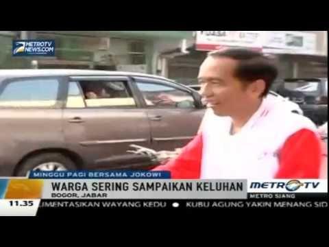 Ban Bocor, Presiden Jokowi Berjalan Sambil Menuntun Sepeda