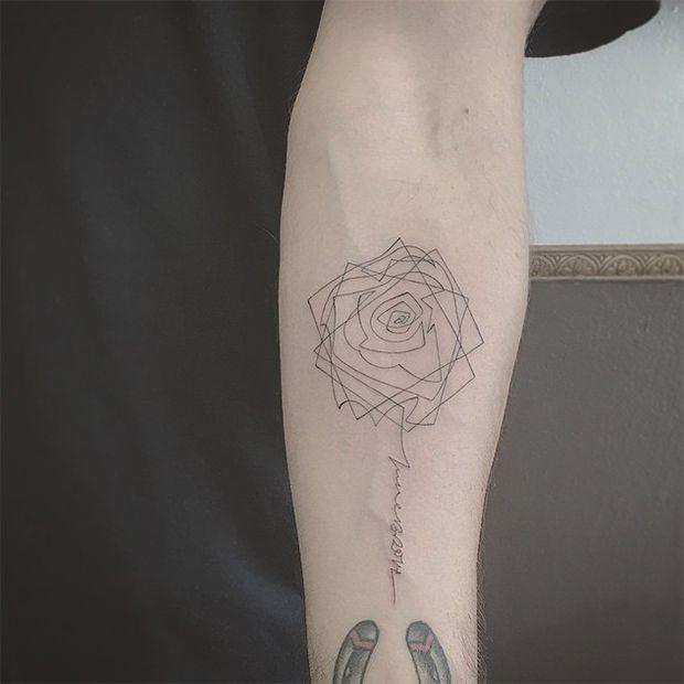 tattoo East Iz fineline linhas finas