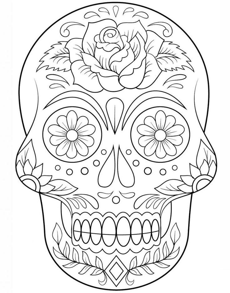 Colección de 20 plantillas de Catrinas para colorear listas para descargar. Encontrarás plantillas para dibujar Catrinas, calaveras y mucho más.