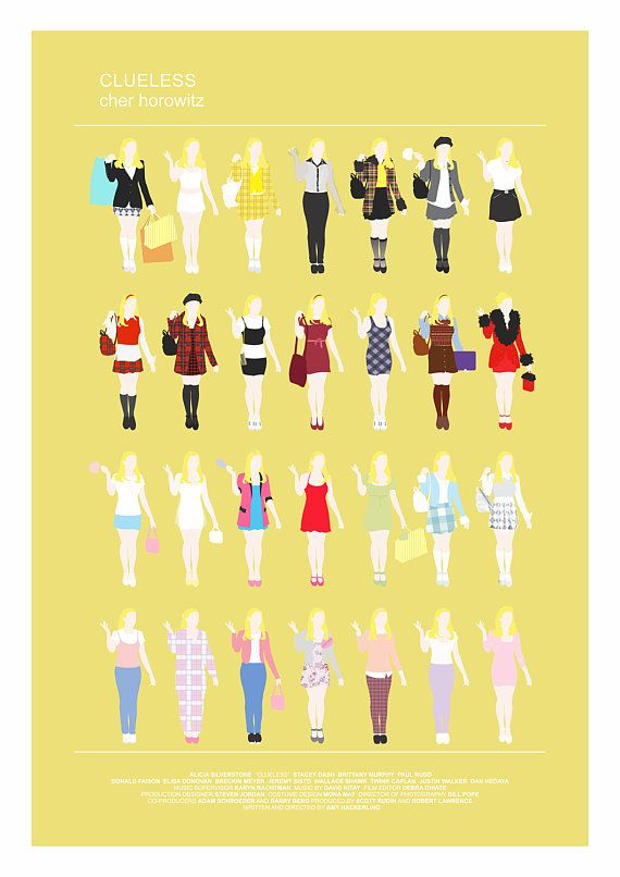 CLUELESS Movie Poster Minimalist print Cher by thefilmfreak