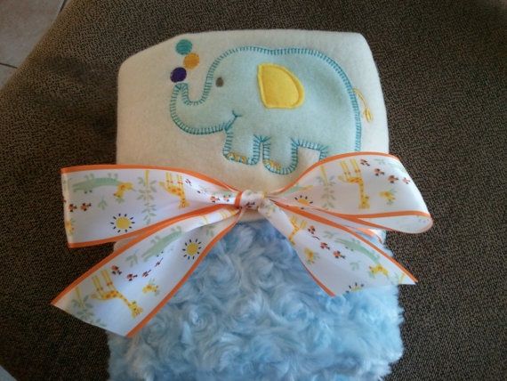 Animal Cracker Minky Blanket by knitbabylady on Etsy, $32.99