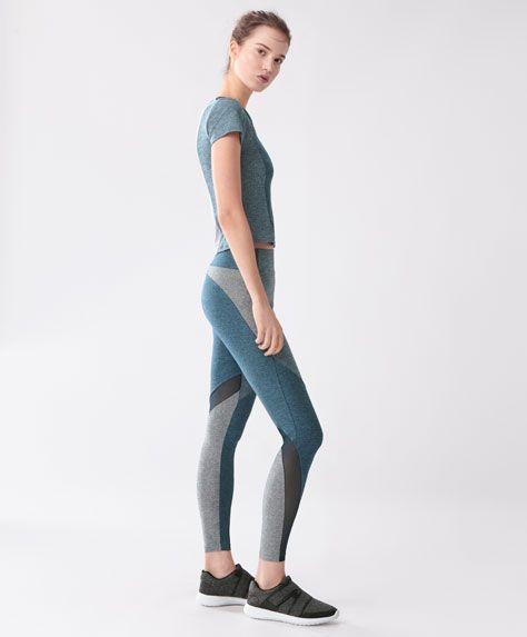 Legginsy melanżowe - Legginsy - Modowe trendy SS 2017 dla kobiet na stronie Oysho: bielizna, odzież sportowa, motywy etniczne i cygańskie, buty, dodatki, akcesoria i stroje kąpielowe.