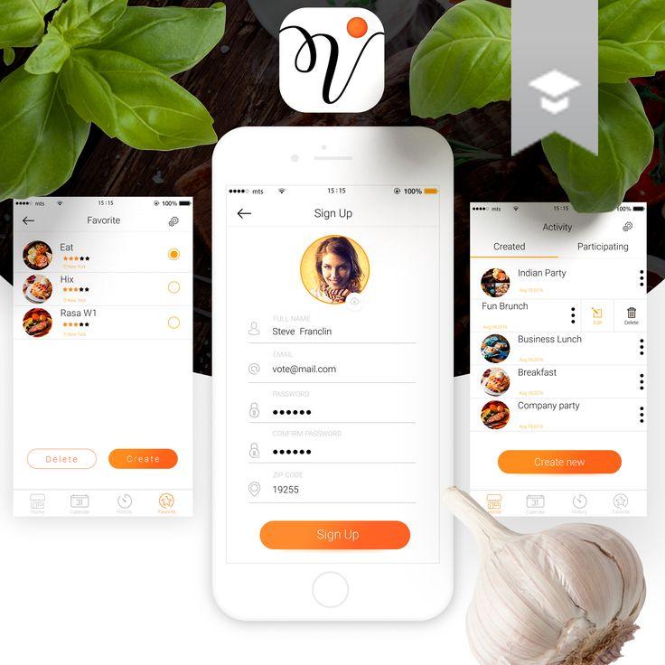 次の @Behance プロジェクトを見る : 「Design mobile app vote」 https://www.behance.net/gallery/46517781/Design-mobile-app-vote